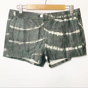 Tory Burch | 100% Leather Tie Dye Shorts Size 8
